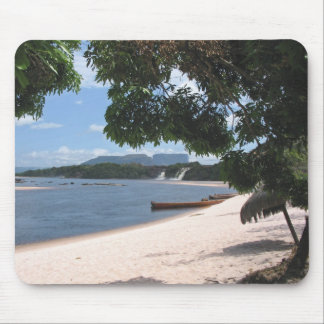 Sandy Beach Venezuela Jungle Landscape Mouse Pad