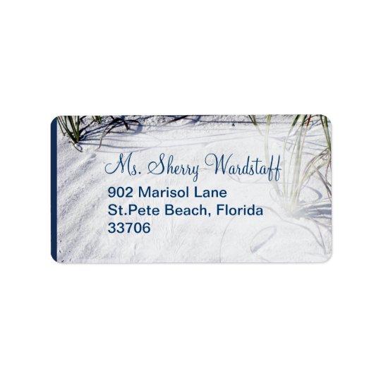 Sandy Beach Wedding 2 Label