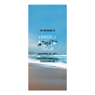 Sandy Beach Wedding Programs 10 Cm X 23 Cm Rack Card