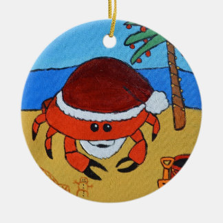 Sandy Claws by Joel Anderson Ceramic Ornament