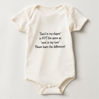 Sandy Diaper Baby Bodysuit
