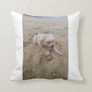 Sandy doggo cushion