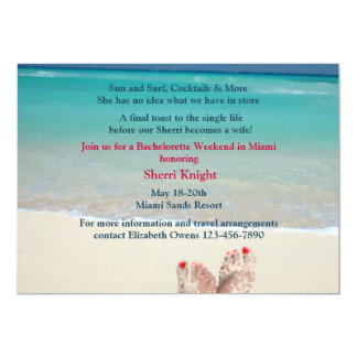 Sandy Feet Bachelorette Party Invitation