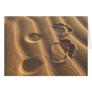 SANDY FEET GREETING CARD