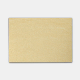 Sandy Gold Post-it Notes