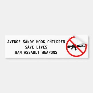 Sandy Hook Assault Rife Weapon Shooting Bumper Sticker