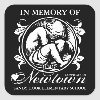 Sandy Hook Newtown Memory Square Sticker
