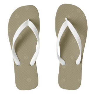 Sandy Pawprint Flipflops Thongs