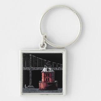 SANDY POINT LIGHT KEY RING