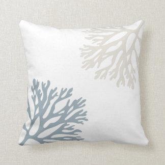 Sandy Sea Coral Silhouettes Cushion