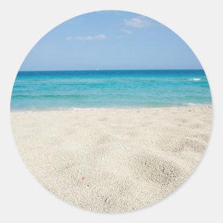 Sandy Shore Round Stickers