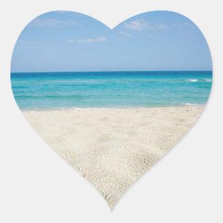 Sandy Shore Wedding Hearts Stickers