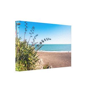 Sandy sunny beach canvas print