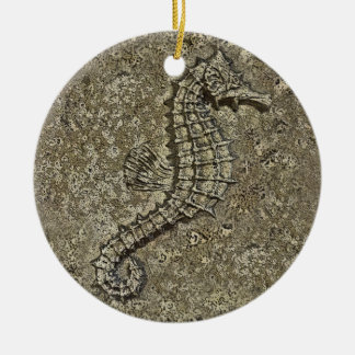 Sandy Textured Seahorse Photograph Ceramic Ornament