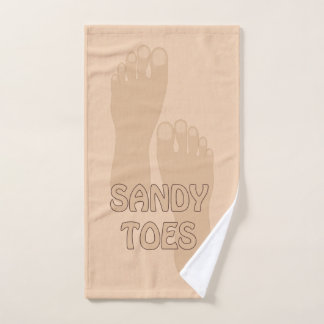 Sandy Toes Beach House Hand Towel