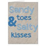 Sandy Toes Salty Kisses Card