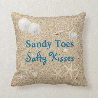 Sandy Toes Salty Kisses Pillow