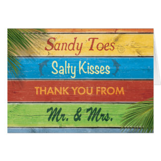 Sandy Toes Salty Kisses Thank You Card