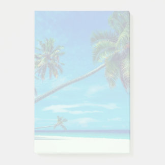 Sandy White Beach with Tropical Palms Post-it Notes