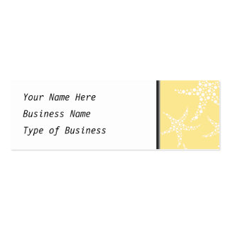 Sandy Yellow and White Starfish Pattern. Pack Of Skinny Business Cards