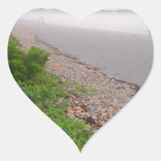 Sandy York Beach Heart Sticker