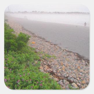 Sandy York Beach Square Sticker