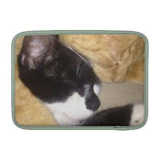 Sandybean and Foofy snuggling for nap time MacBook Sleeves