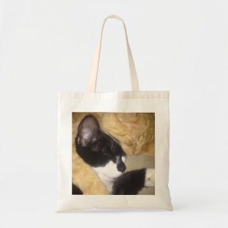 Sandybean and Foofy snuggling for nap time Tote Bag