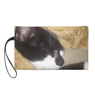 Sandybean and Foofy snuggling for nap time Wristlet