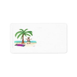 Sandyman on Beach label