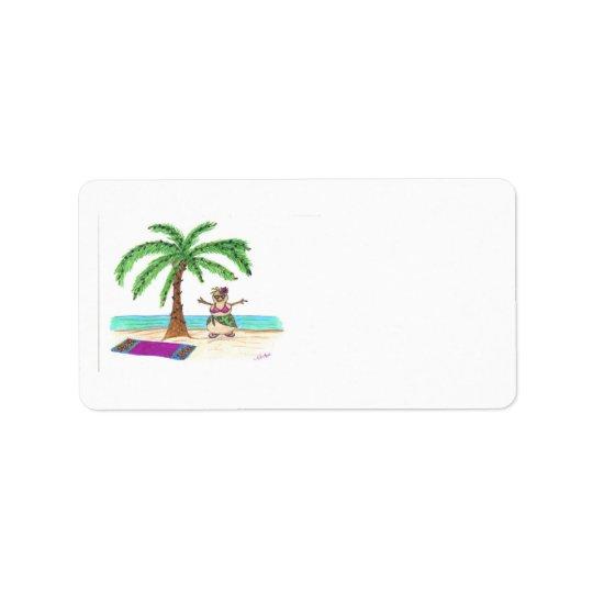 Sandyman on Beach label Address Label