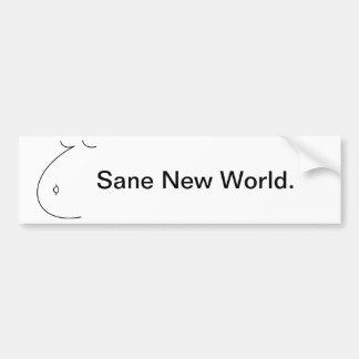 Sane New World - Bumper Sticker. Bumper Sticker