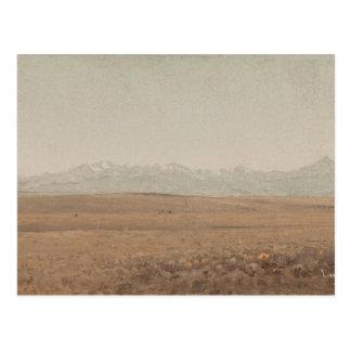 Sanford Robinson Gifford - Longs Peak, Colorado Postcard