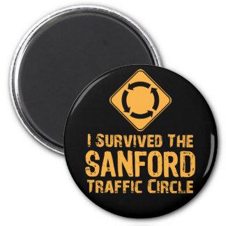 Sanford Traffic Circle 6 Cm Round Magnet
