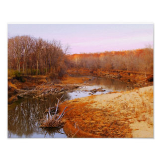 Sangamon River Near Lincoln's New Salem, Illinois Poster