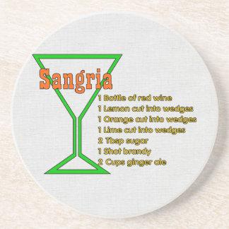 Sangria Drink Coaster