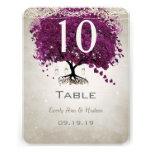 Sangria Heart Leaf Wedding Table Number Custom Invitation