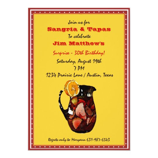 Sangria Wedding Invitations: Sangria Invitation