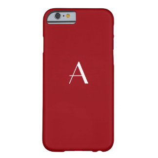 Sangria Red Monogram iPhone 6 case Barely There iPhone 6 Case