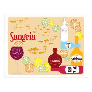 Sangria Red Wine Cocktail Postcard