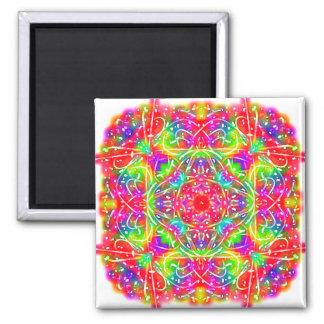 Sangria Square Mandala Square Magnet