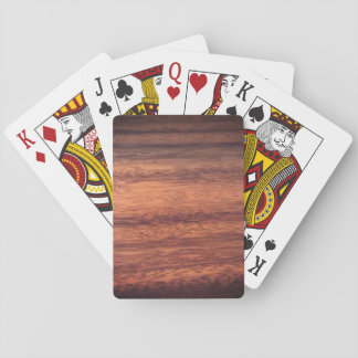 Sangria Wood Effect Playing Cards