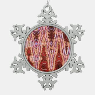 Sanguine Point Pewter Snowflake Ornament