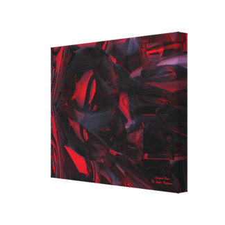Sanguine Rose abstract canvas print wall art