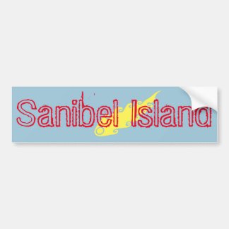 Sanibel Island fireball bumper sticker