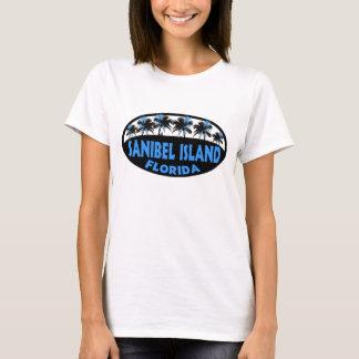 Sanibel Island Florida blue palms T-Shirt