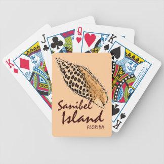 Sanibel Island Florida Junonia shell playing cards