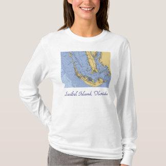 Sanibel Island, Florida Nautical Chart Shirt
