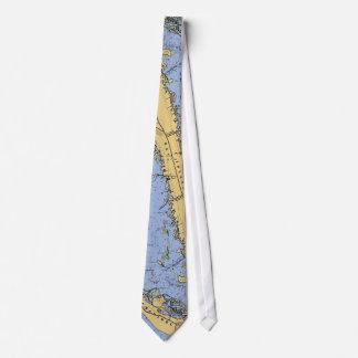Sanibel Island Florida Nautical Chart Tie