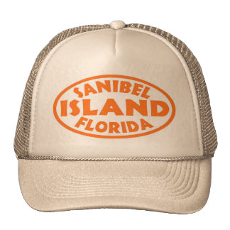 Sanibel Island Florida orange oval Cap
